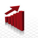 Graph chart showing profit increase. poster