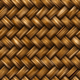 Seamless rattan weave background poster