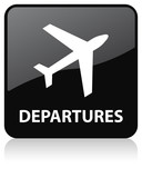 Airline Departures Icon poster