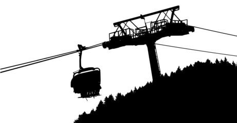 vector of a ski lift