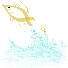 leaping goldfish