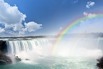 Rainbows at Niagara Falls