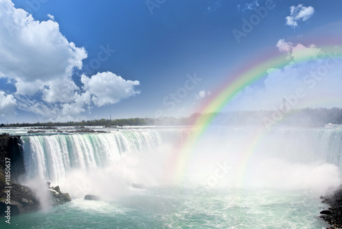 Poster Grote meren Rainbows at Niagara Falls
