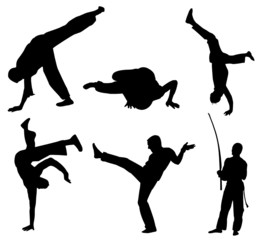 Brazil Capoeira Silhouette