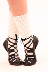 Pies con zapatillas de irish dance