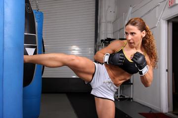 MMA Woman Kick