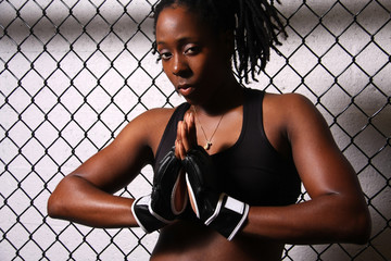 African American MMA Fighter