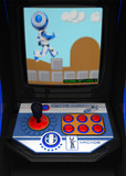 Retro Arcade Game Blue Robot poster