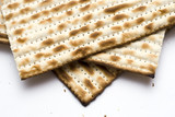 Macro of Three Matzohs (matza)