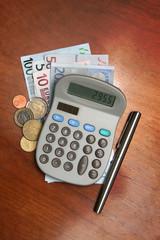 calculatrice et euros