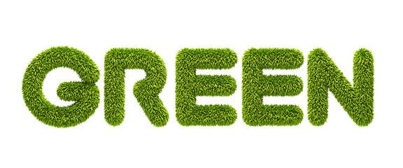 "symbolic grassy word ""green"""