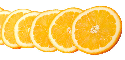slices of juicy ripe orange