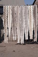 Traffic et commerce de peaux de serpents Phyton (Birmanie)