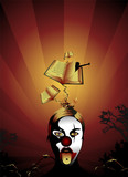 clown with books