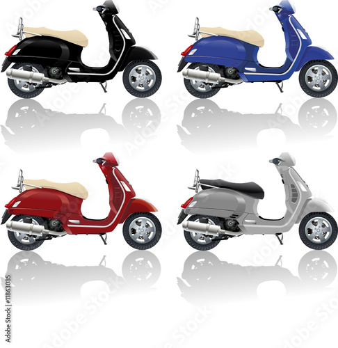 Foto op Canvas Scooter scooter vespa