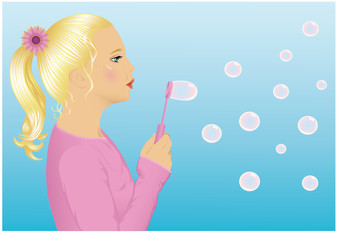 Girl with bubbles.