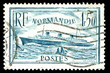 vintage french stamp