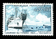 vintage stamp of cable ship