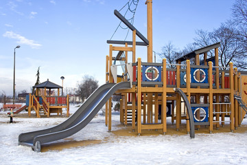 Winter playground.
