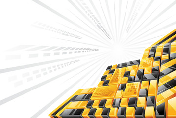 Yellow Black 3D Background
