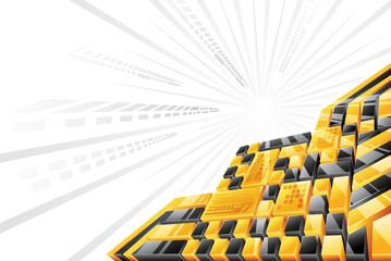 Yellow Black 3D Background