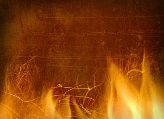 Close-up of fire and flames on a background