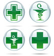 Pharmacy buttons set