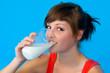 Frau, Girl mit Milch