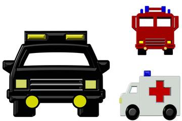 3D Emergency Trucks - Isolated