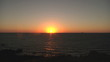 Sunrise over the ocean in timelapse