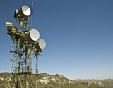 Microwave telecommunications tower poster