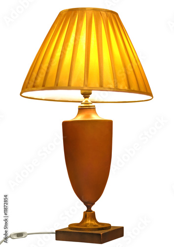 elegant table lamp isolated with clipping path