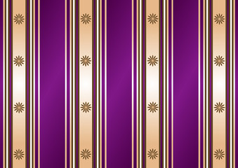 Striped decorative lilas-coffee background (vector)