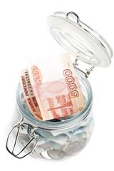 Money in a pot.