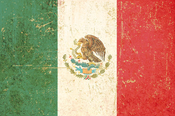 flag of mexico grunge