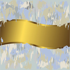 Golden grunge banner (vector)