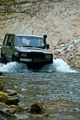 The off-road. On the river Van Chin.