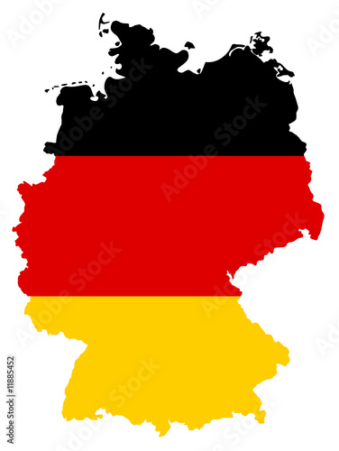 deutschland karte germany map