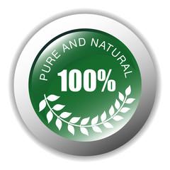 100 % Pure & Natural Button