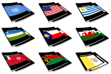 world flag book collection 30