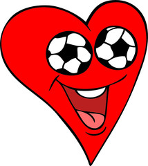 Soccer Fan Heart
