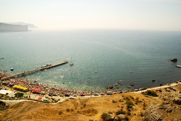 Coast of Black sea in Ukraine