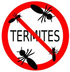 termites interdit