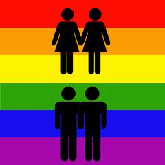 parejas de gays y lesbianas