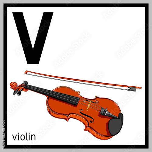 "V Is For Violin ""violin and engli..."