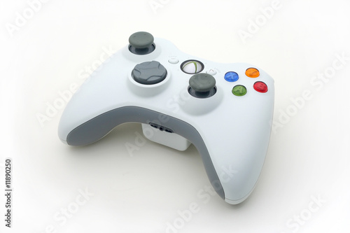 White Video Game Controller on White - 11890250