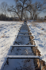 old abandoned irrigation ditch flume