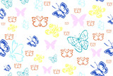 butterfly endless pattern poster