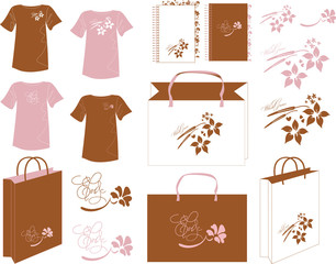 Rosy brown design bag