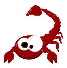 3D Scorpion Cartoon - Isolated On White